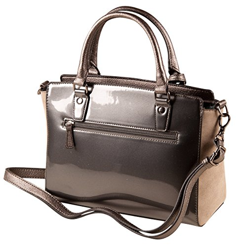 PICARD Lodge 2284 Tasche Damen Henkeltasche Handtasche 28x21x11 cm (BxHxT), Farbe:Rosewood Rosewood