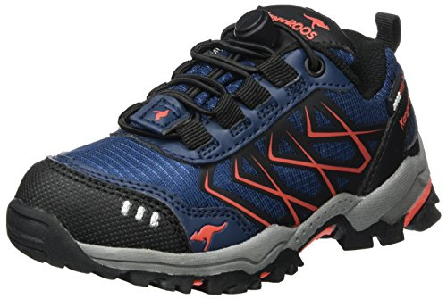 KangaROOS Unisex-Kinder Molas Sneaker, Blau (K Blue/Fire), 30 EU