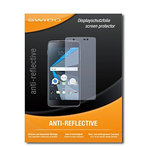 SWIDO Schutzfolie für BlackBerry DTEK50 [2 Stück] Anti-Reflex MATT Entspiegelnd, Hoher Härtegrad, Schutz vor Kratzer/Bildschirmschutz, Bildschirmschutzfolie, Panzerglas-Folie