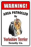 KODY HYDE Metall Poster - Yorkshire Terrier - Vintage