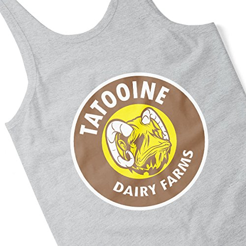 Star Wars Bantha Tatooine Dairy Farms Men's Vest Heather Grey