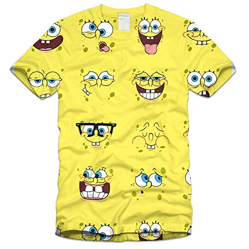 Image of CLEARANCE SUBLIMATION T-SHIRT STOCK SALE TO CLEAR (M, SPONGEBOB)