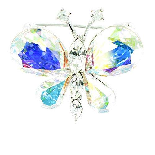 rsilbert Edelstein Brosche Schmetterling (Raupe Und Schmetterling Kostüme)