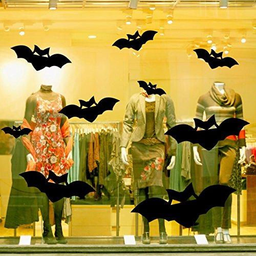 Wandmalereien Aufkleber terroristischen Ausdruck geek Shop bar Fenster Glas Wand Papier Halloween, 144 * 90 cm bat