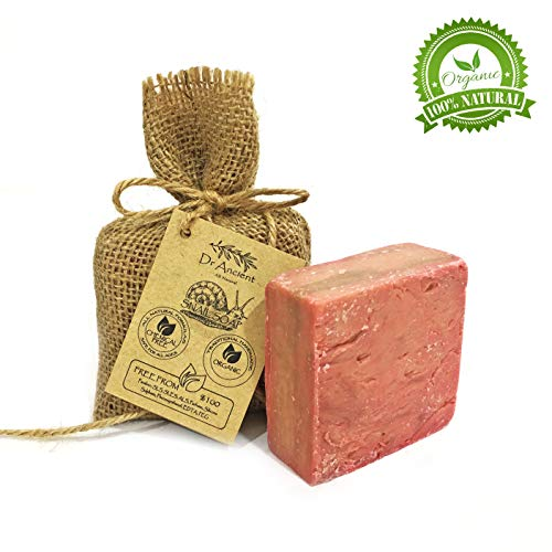 Barra di sapone di lumaca naturale organico fatto a mano antico tradizionale - Anti invecchiamento, efficace per acne e pelle - Nessun prodotto chimico, puro sapone naturale!
