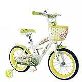 Bicyclehx Fahrrad der Qualitäts-Metallkinder mit Praxis-Rädern Lernen Kinderfahrrad in 12/14/16/18 Zoll für Jungen-Mädchen-Geburtstags-Weihnachtsgeschenk (Color : Green, Größe : 16 inch)