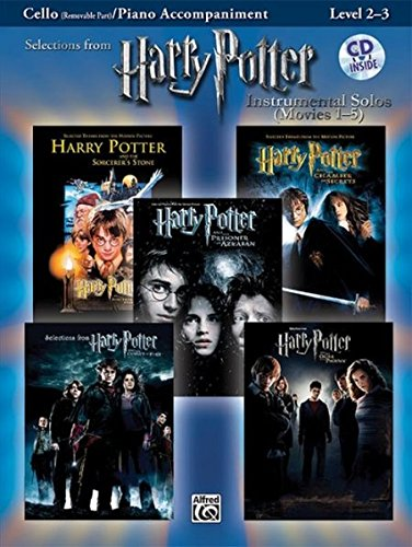 Selections from Harry Potter Movies 1-5, w. Audio-CD, for Cello and Piano Accompaniment (Harry Potter Instrumental Solos (Movies 1-5): Level 2-3) (Pop Instrumental Solo Series) (Alfred Klavier Fingersatz)
