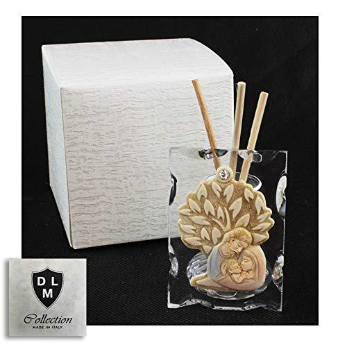Dlm29626 diffusore profumatore in vetro con albero della vita e sacra famiglia per ambienti profumo bomboniera