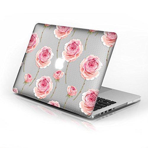 Gummierte Hartschale für MacBook Air 33cm Modellnummer A1369und A1466, Serie 7Design mit klarer unten Fall, kommen mit Keyboard Cover Rose Dots 33 cm (13 Zoll) Dots Hard Case Cover