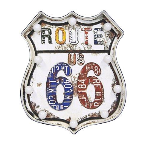 DARO DEKO Wand-Bild Route 66 beleuchtet