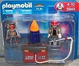 Playmobil - 5943 - Duo Pompiers avec Barril en Feu et Pompe