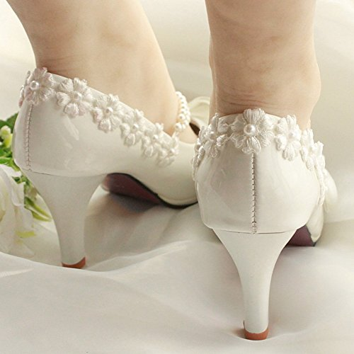 GetmorebeautyUpdate - Strap alla caviglia donna Blanco - blanco