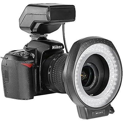 Neewer MRC-80FV 80 piezas muy brillante Flash anular LED para macrofotografía y luz para Canon, Nikon, Sony, Pentax, Panasonic, Olympus cámara réflex Digital y videocámara