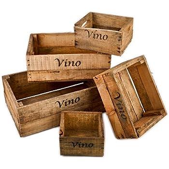 Amazon.de: 3 Weinkisten aus Holz zur Dekoration - Vintage