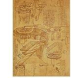 Yirenfeng Manuskript Poster Nostalgisch Retro Dekoratives Kernpapier Vintage Poster