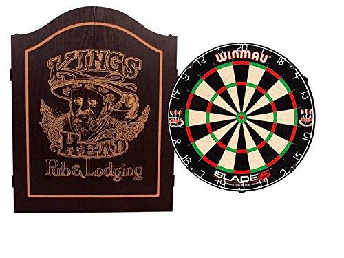 EMPIRE®TM Cabinet Kings Head schwarz inkl. WINMAU BLADE 5 + EMPIRE® Dartset