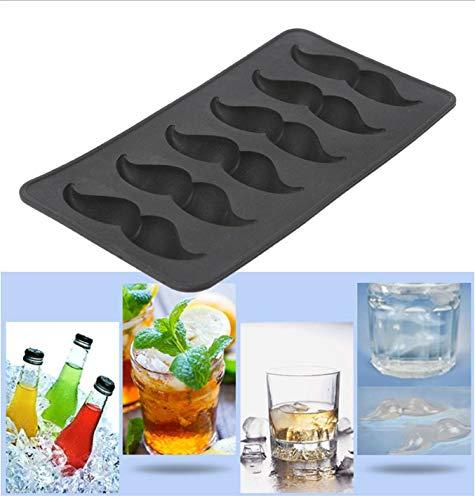 LEYOYO EIS am Stiel Bar Mold Schnurrbart geformt Silikon Eiswürfel Mold EIS am Stiel Candy Soap Mold Tool -
