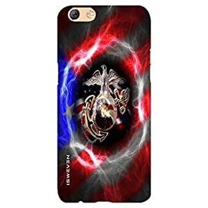 iSweven Logo design printed matte finish back case cover for Oppo F3 Plus