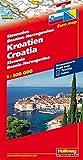 Kroatien / Slowenien / Bosnien-Herzegowina 1 : 500 000: Straßenkarte mit Index. (Road Map) (Hallwag Strassenkarten) - Hallwag