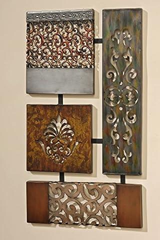 Wand -Objekt Kult aus Metall, 37x68cm, Wanddekoration, Wandbild, Wandrelief