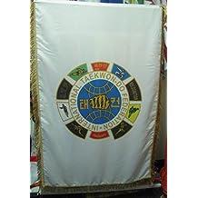 ITF Taekwondo Tortuga bandera Shell - Gran Bandera - Súper Regalo