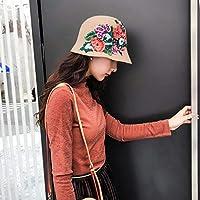 Sombrero deportivo Gorro de lana de otoño e invierno gorro de pescador de  flor hembra 7605da63786