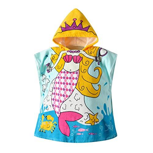 Baby Mädchen Jungen Bademantel Hoodie Umhang Kinder Badetuch Schlafanzug Nachtwäsche Tier Muster Robe Kapuzenpullover Kleid Morgenmantel Lonshell -