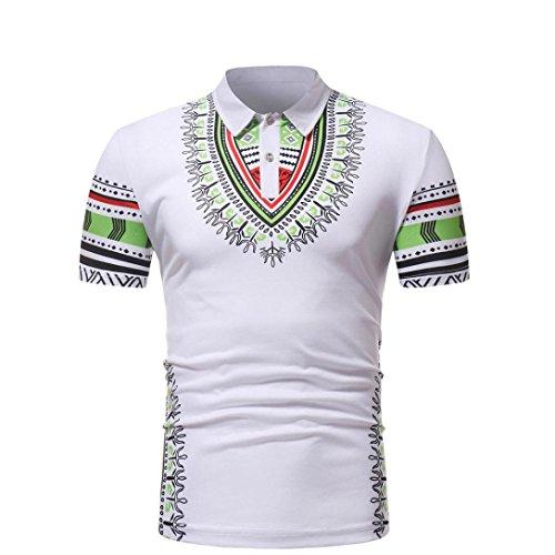 Cinnamou Camisa de Polo de Moda de Manga Corta de Estilo Africano de los  Hombres Camiseta 33bb0e9d79ce6