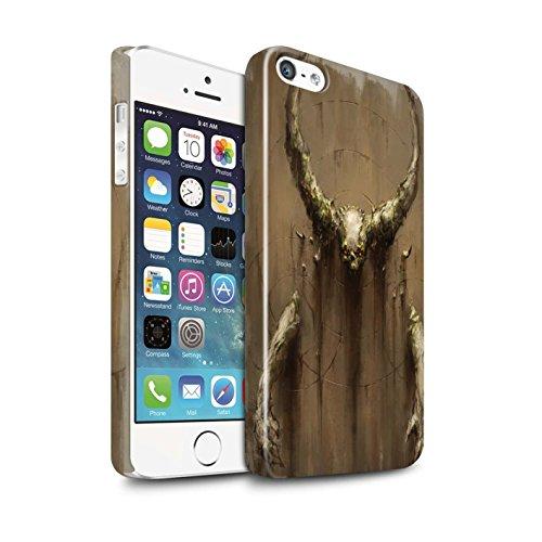 Offiziell Chris Cold Hülle / Glanz Snap-On Case für Apple iPhone SE / Pack 10pcs Muster / Dunkle Kunst Dämon Kollektion Hörner