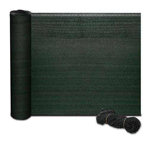 casa pura® Zaunblende | Fachhandel-Qualität | effektiver Sichtschutz, Windschutz, Schattiernetz | für Sportplatz, Garten, Maschendrahtzaun | Tennisblende grün | viele Größen (1,2m x 6m)