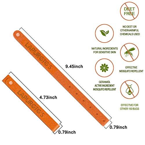 Imagen de lapurete's 10 paquetes pulseras repelentes de mosquitos para adultos y niños,natural insectos & control de insectos deet free,envase de 2 brazaletes x 5 colores distintos alternativa