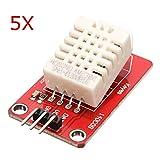 Bluelover 5Pcs Am2302 Dht22 Temperatura Y Módulo De Sensor De Humedad Para Arduino Scm