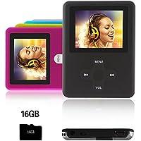 Btopllc Lettore MP3,lettore MP4 16GB,lettore di musica digitale MP3/MP4 Player classico ricaricabile/lettore multimediale/lettore audio - nero