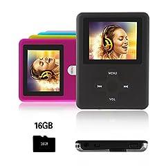 Idea Regalo - Btopllc Lettore MP3,lettore MP4 16GB,lettore musicale MP3 portatile,lettore di musica digitale MP3/MP4 Player classico ricaricabile/lettore multimediale/lettore audio/lettore multimediale - nero