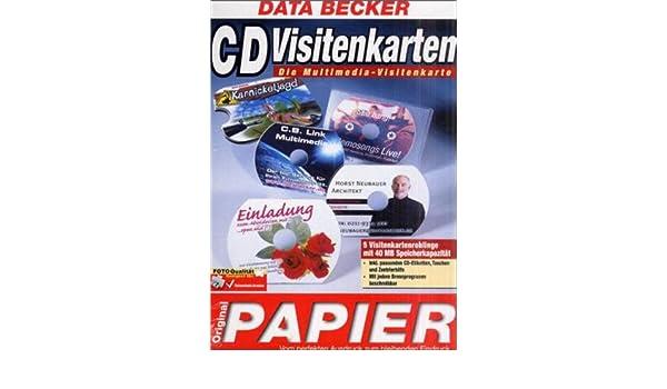 Data Becker Original Papier Cd Visitenkarten 5 Cd Rohlinge