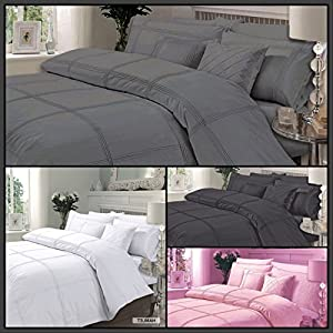 AR'S Luxury Quality Embroidered Hamlet Duvet/Quilt Cover Bedding Set With Pillowcases in Single, Double, king & Super King Sizes
