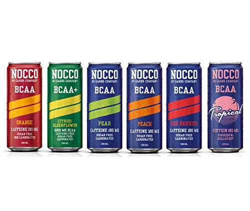 NOCCO (No Carbs Company) Mixed Case (12x 330ml cans) ALL FLAVOURS