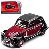 alles-meine.de GmbH Citroen 2cv Braun Rot Schwarz Charleston 6 Ente 1949-1990 1/64 Schuco Modell Auto mit individiuellem Wunschkennzeichen