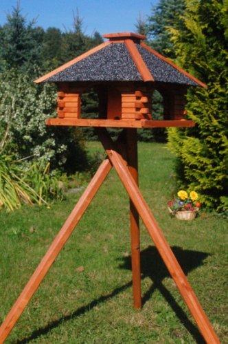 stabiles Futterhaus/Vogelhaus mit Strukturputzdach mit Ständer