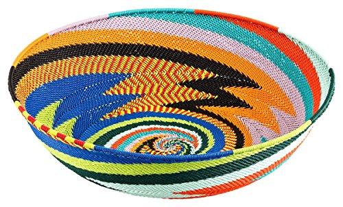 Maharanis Wire baskets Körbe aus Telefondraht handgewebt in Kwa Zulu Natal Südafrika 25 cm (Wire Korb)