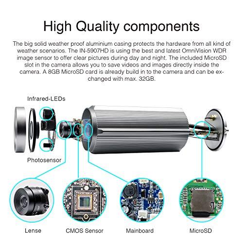 INSTAR IN-5907HD Wlan IP Kamera  – HD Sicherheitskamera für Außen - 3