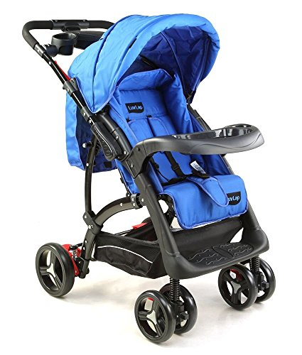 LuvLap  18160 baby stroller(Sports) Dark Blue/Black