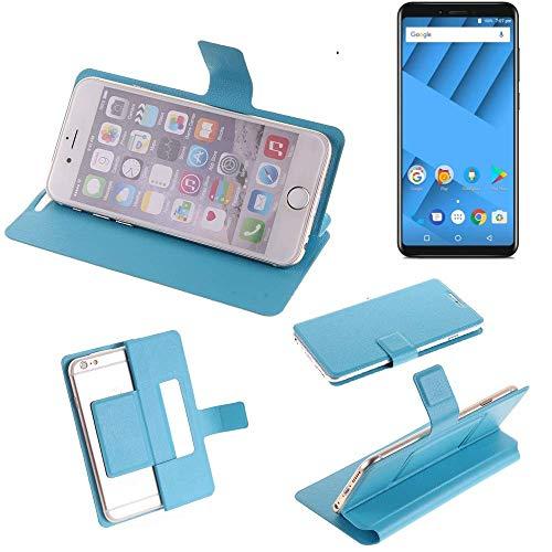 K-S-Trade Flipcover für Vernee M6 Schutz Hülle Schutzhülle Flip Cover Handy case Smartphone Handyhülle blau