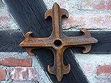 Antikas - Maueranker Pfettenanker, schwerer Wandanker für Sparren, Wand Ornament Kreuz