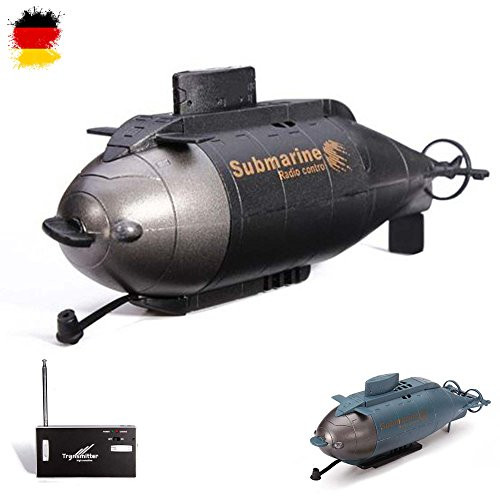 6-Kanal mini RC ferngesteuertes U-Boot, Komplett-Set inkl. integr. Akku, Ladegerät, Fernsteuerung
