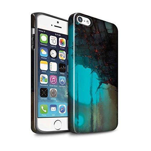 Offiziell Chris Cold Hülle / Glanz Harten Stoßfest Case für Apple iPhone 5/5S / Shadowgate Schloss Muster / Gefallene Erde Kollektion Gift Haupt