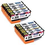 Jofoce 26 26XL Druckerpatrone für Epson 26 26XL patronen, Kompatibel mit Epson Expression Premium XP-620 XP-520 XP-610 XP-605 XP-510 XP-800 XP-600 XP-615 XP-700 XP-710 XP-720 XP-810 XP-820 Drucker