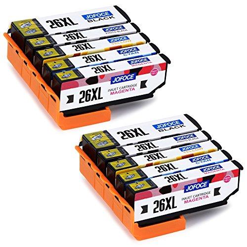 Jofoce Sostituzione per Epson 26 26XL Cartucce d'inchiostro, Compatibile con Epson Expression Premium XP-620 XP-520 XP-610 XP-605 XP-510 XP-800 XP-600 XP-615 XP-700 XP-710 XP-720 XP-810 Stampante