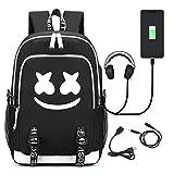 T-MIX Marshmello Zaino, Backpack Travel Bag Bookbag Laptop Backpack USB Multifunzionale Casual Bussiness Borsa