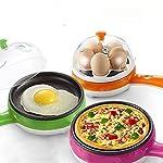 Hk Villa 2 In 1 Multifuctional Steaming Device egg pan Frying Egg Boiling Roasting Heating Electric Mini Egg Boiler...